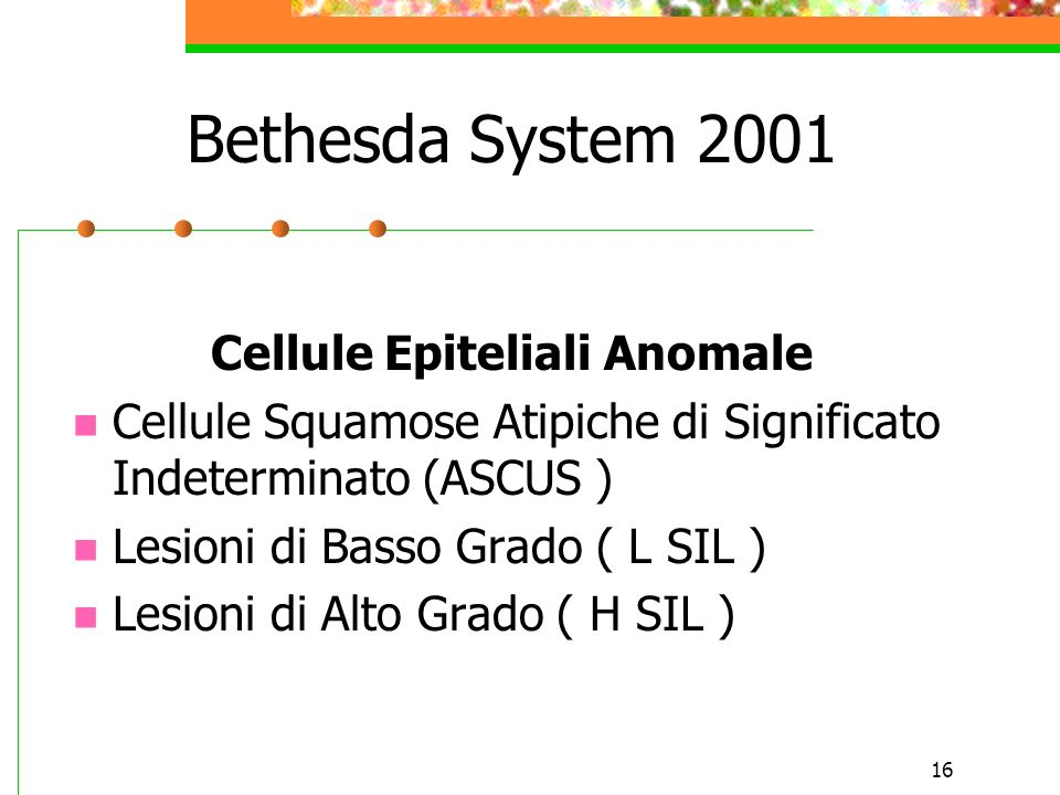 Cellule Epiteliali Anomale