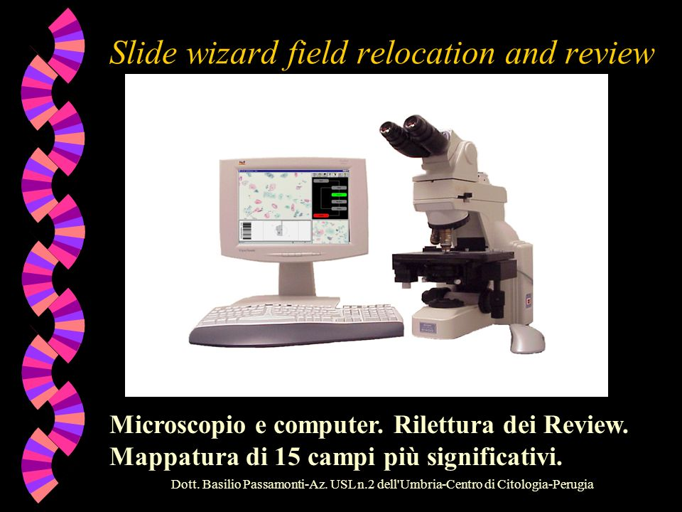 Slide wizard field relocation and review
