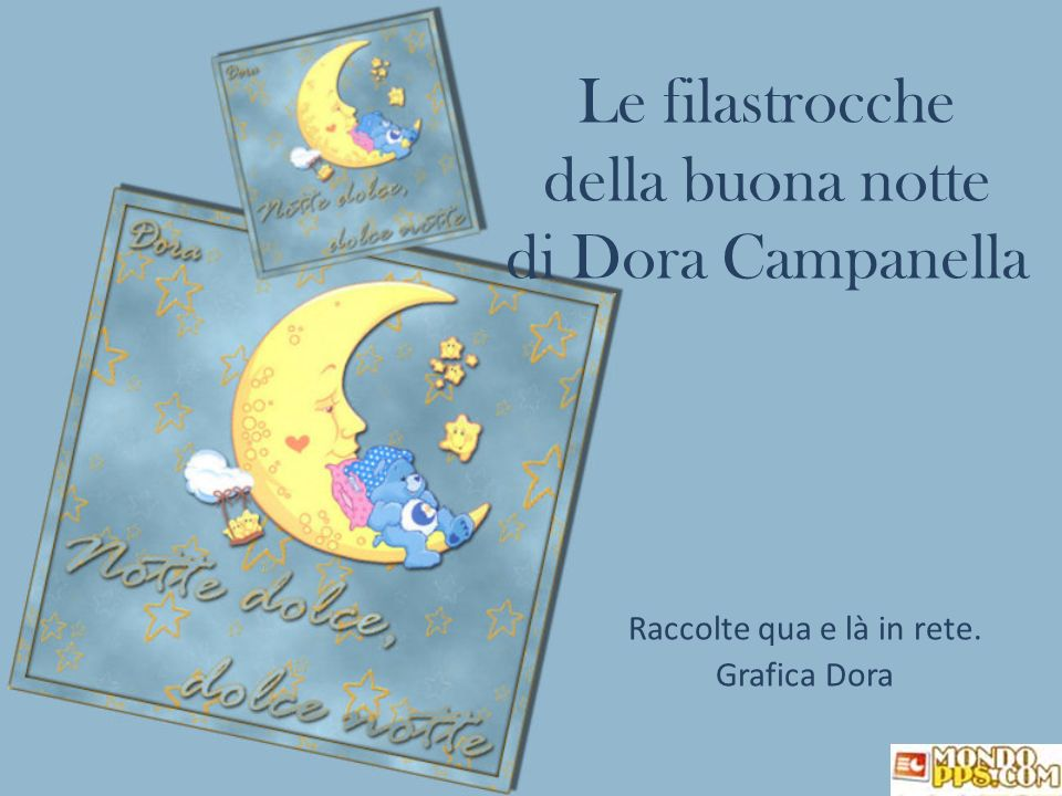 Le filastrocche della buona notte di Dora Campanella