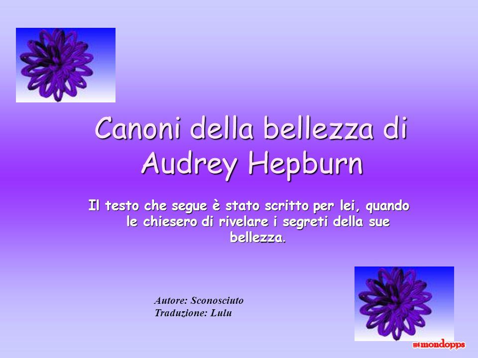 Canoni della bellezza di Audrey Hepburn