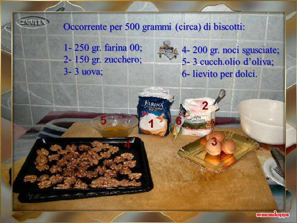Occorrente per 500 grammi (circa) di biscotti: