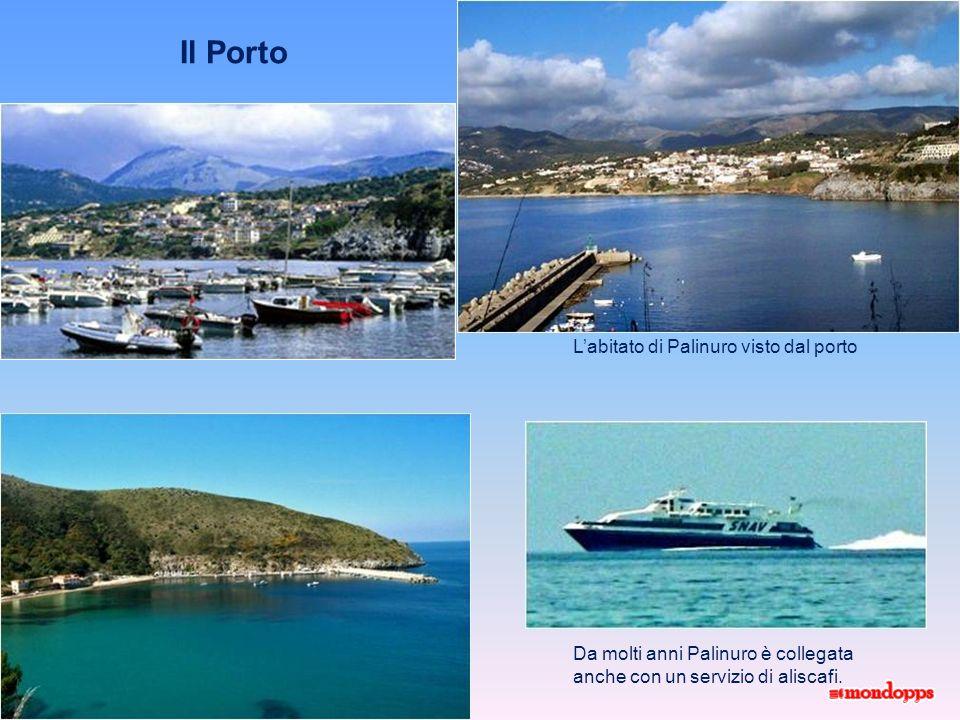 Il Porto L'abitato di Palinuro visto dal porto