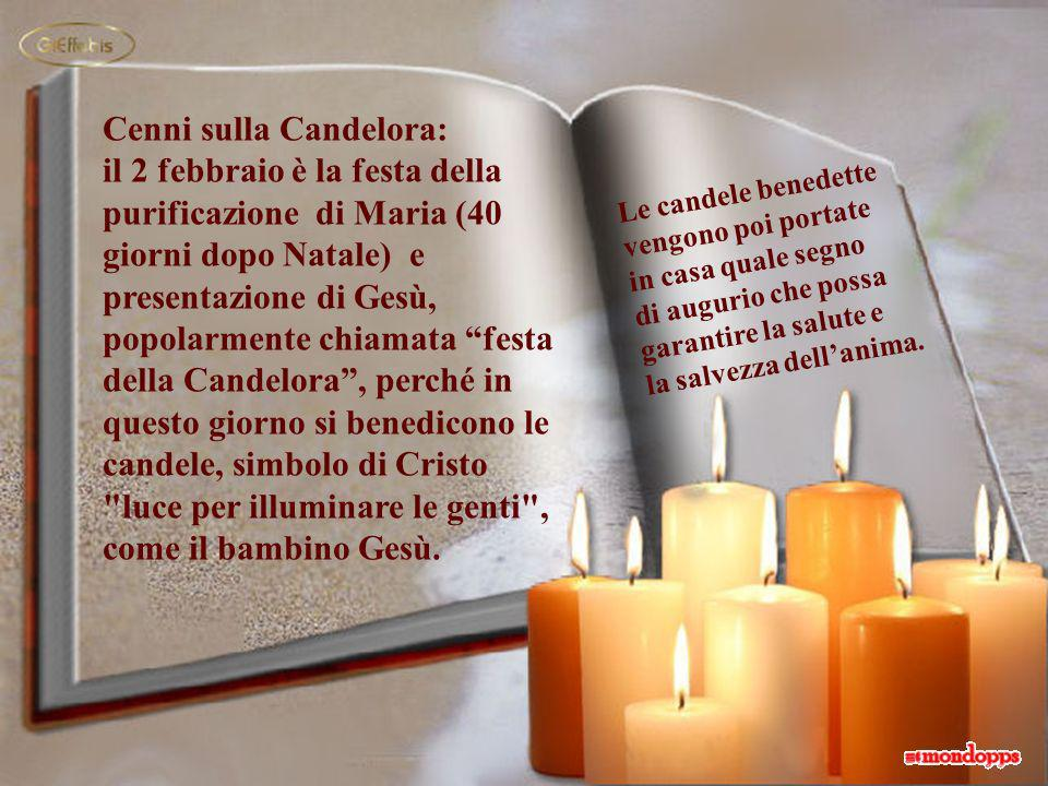Cenni sulla Candelora: