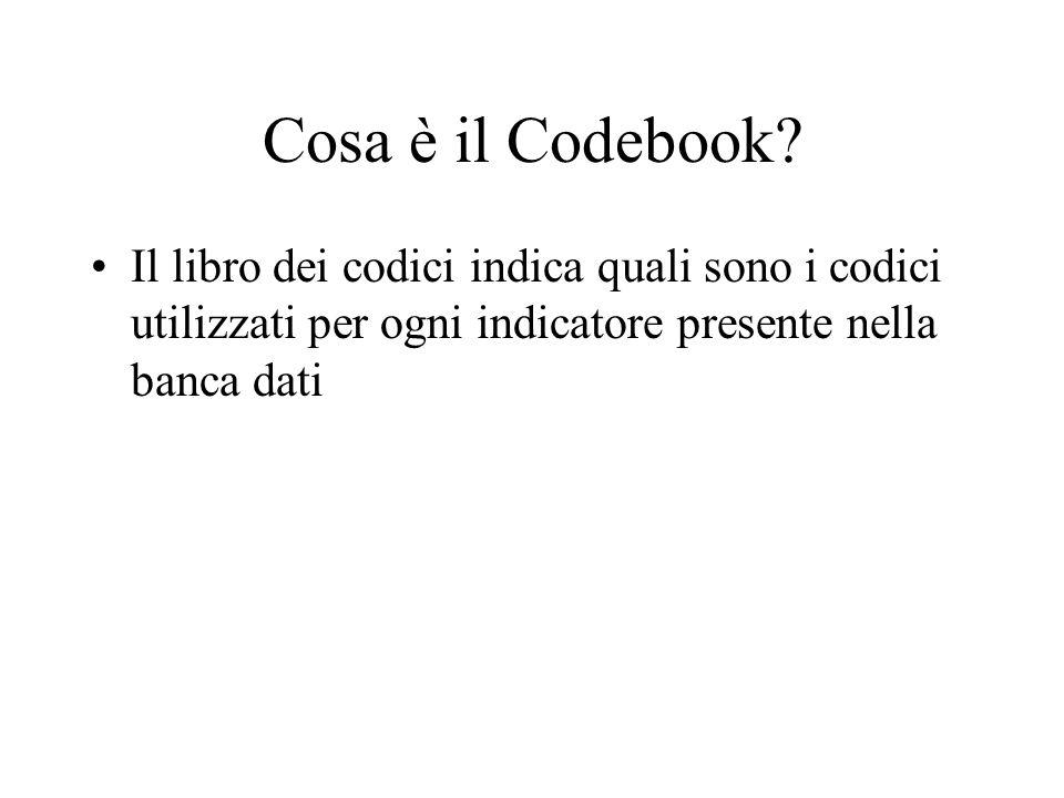 Cosa è il Codebook.