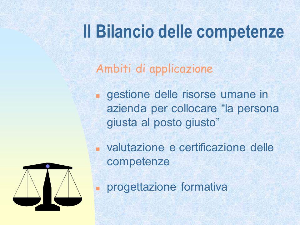 Il Bilancio delle competenze