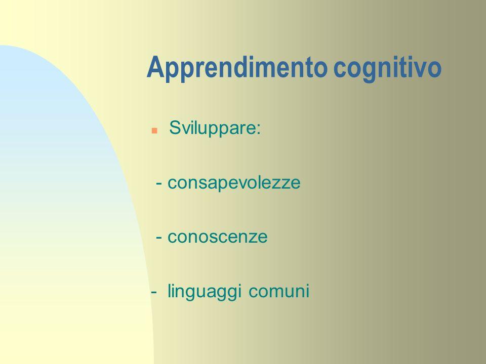 Apprendimento cognitivo