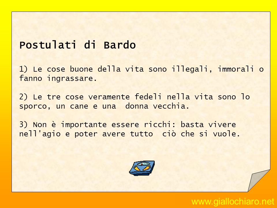 Postulati di Bardo www.giallochiaro.net