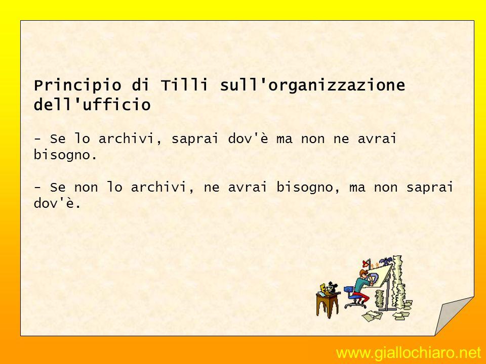 Principio di Tilli sull organizzazione dell ufficio