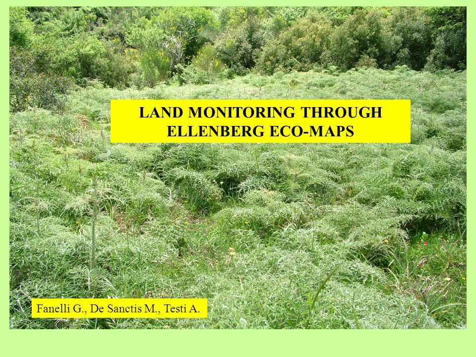 LAND MONITORING THROUGH ELLENBERG ECO-MAPS