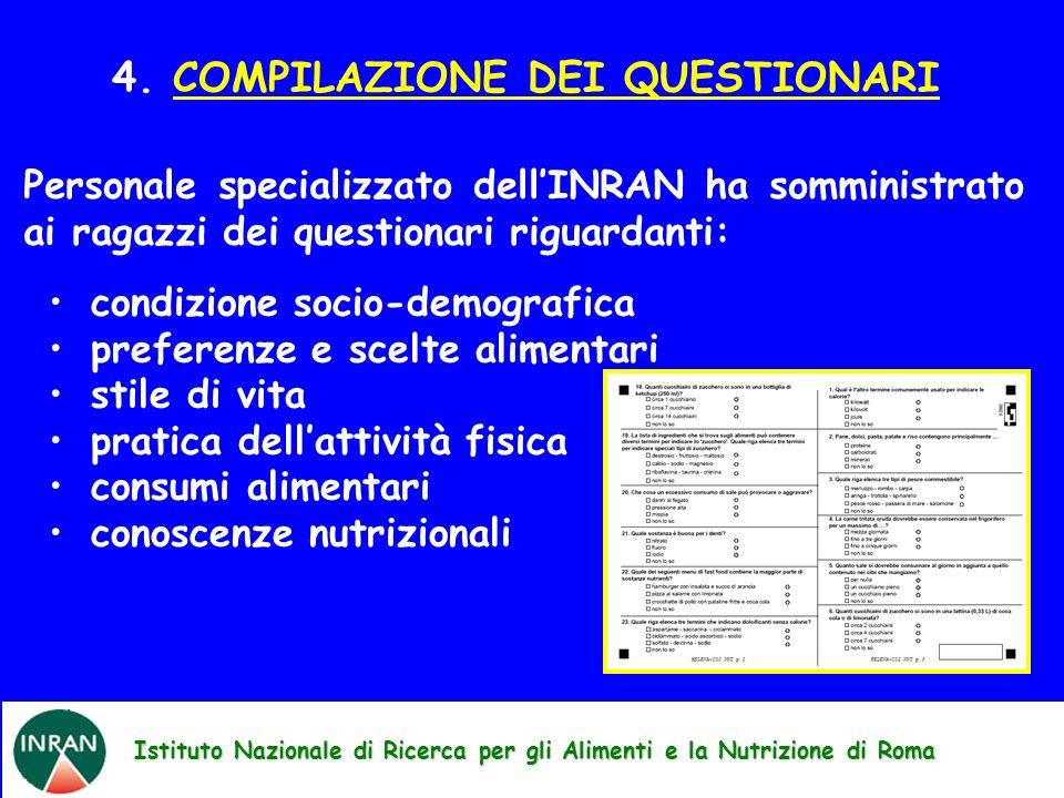 4. COMPILAZIONE DEI QUESTIONARI