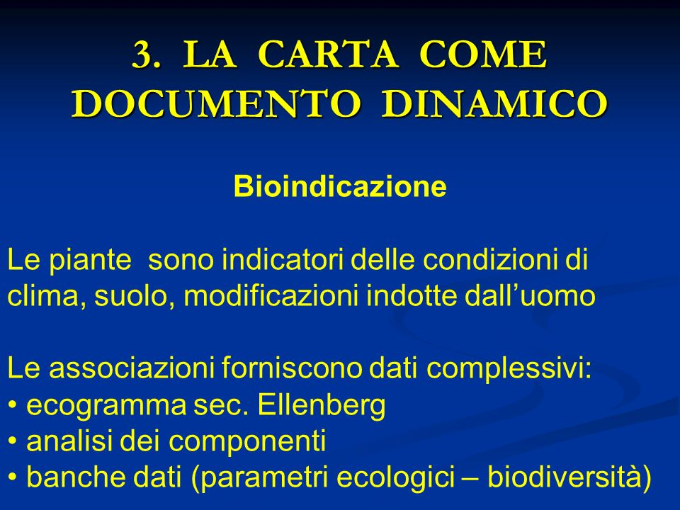 3. LA CARTA COME DOCUMENTO DINAMICO