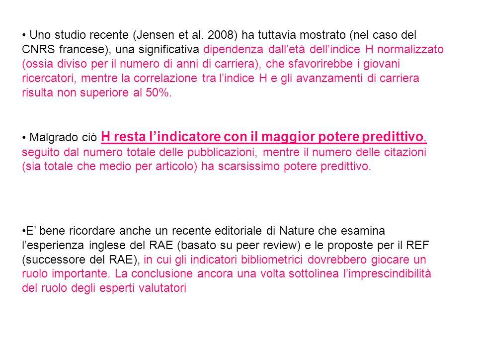 • Uno studio recente (Jensen et al