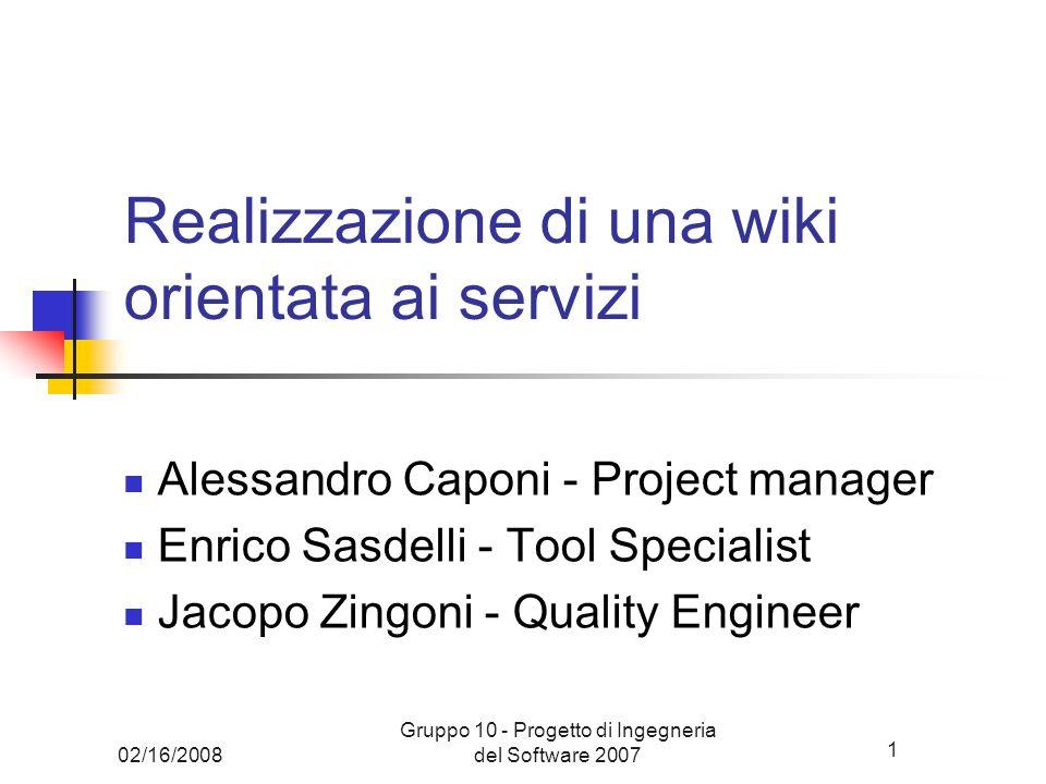 Realizzazione di una wiki orientata ai servizi