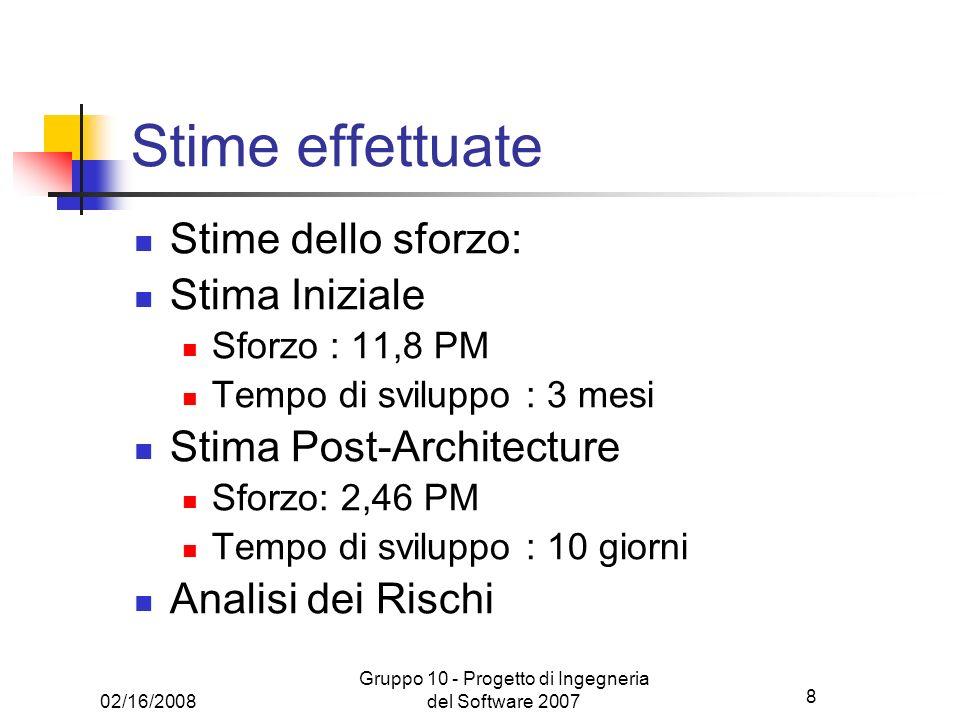 Gruppo 10 - Progetto di Ingegneria del Software 2007