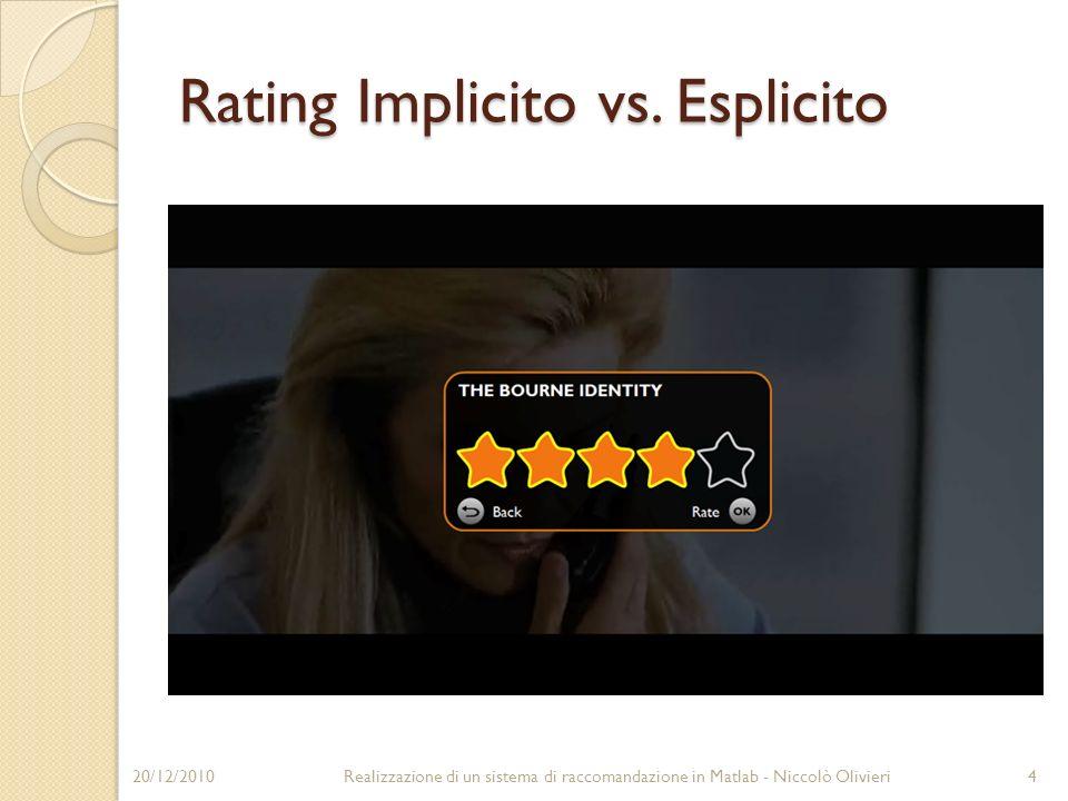 Rating Implicito vs. Esplicito