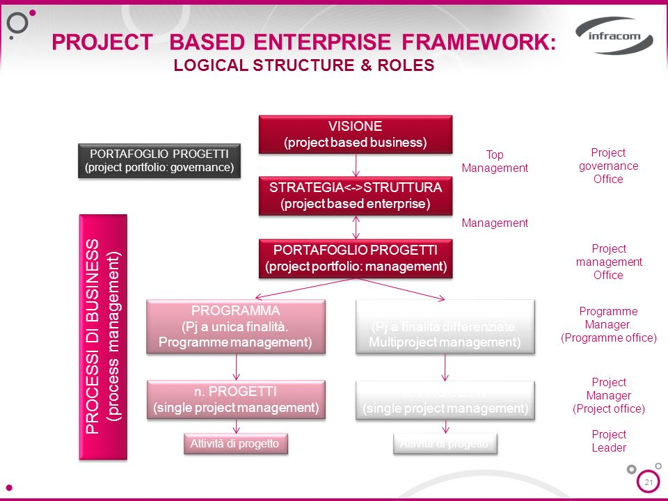PROJECT BASED ENTERPRISE FRAMEWORK: LOGICAL STRUCTURE & ROLES