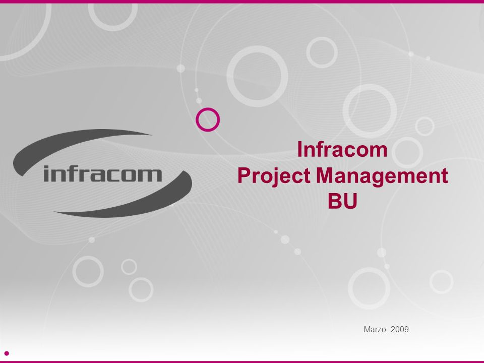 Infracom Project Management BU