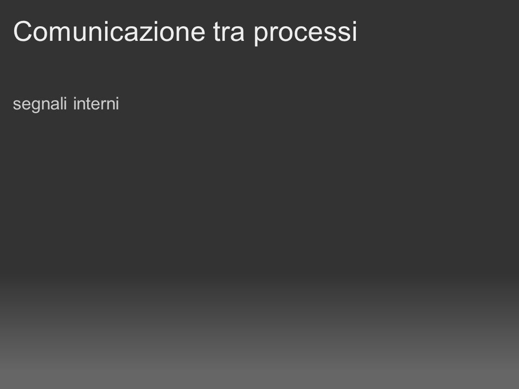 Comunicazione tra processi