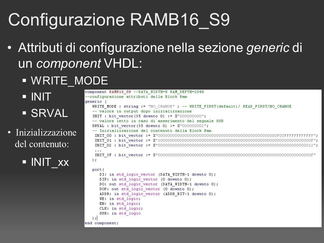 Configurazione RAMB16_S9