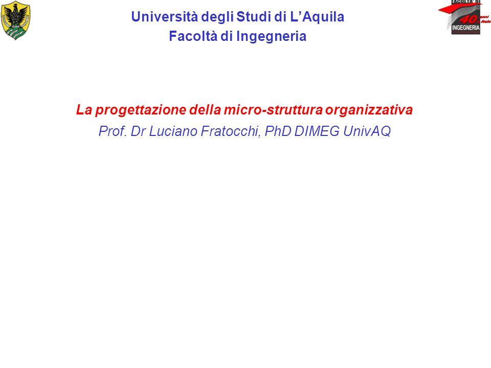 Università degli Studi di L'Aquila Facoltà di Ingegneria