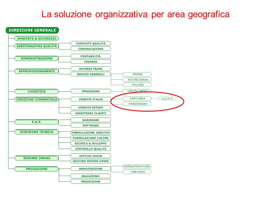 La soluzione organizzativa per area geografica