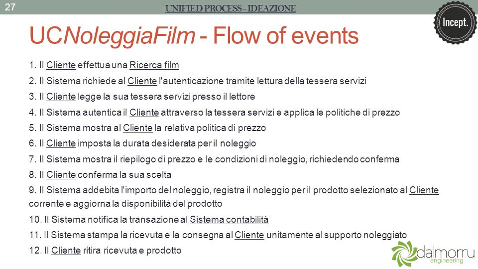 UCNoleggiaFilm - Flow of events