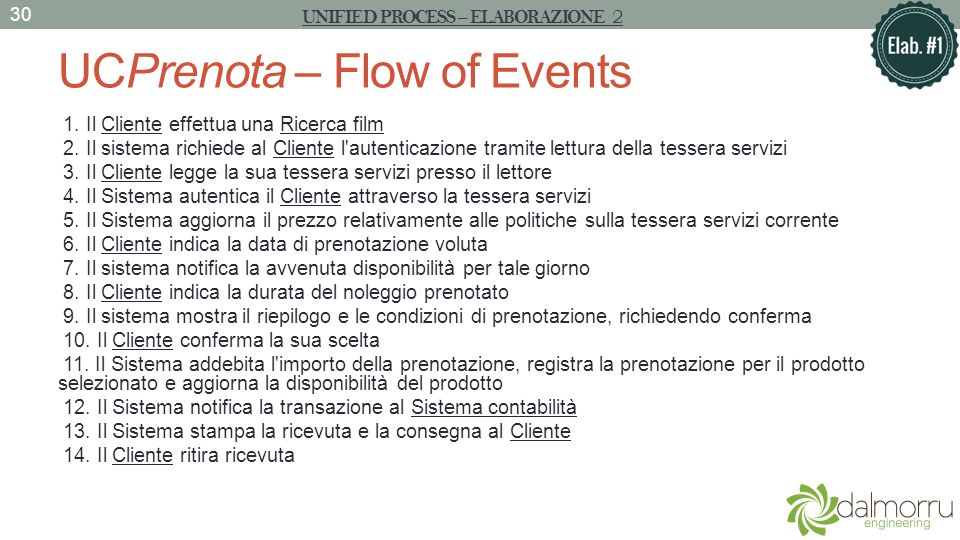 UCPrenota – Flow of Events