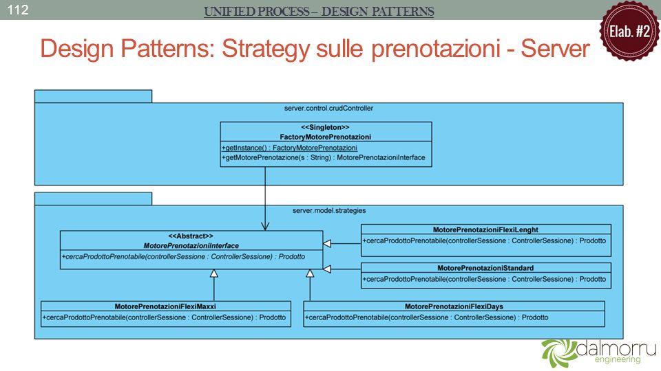 Design Patterns: Strategy sulle prenotazioni - Server