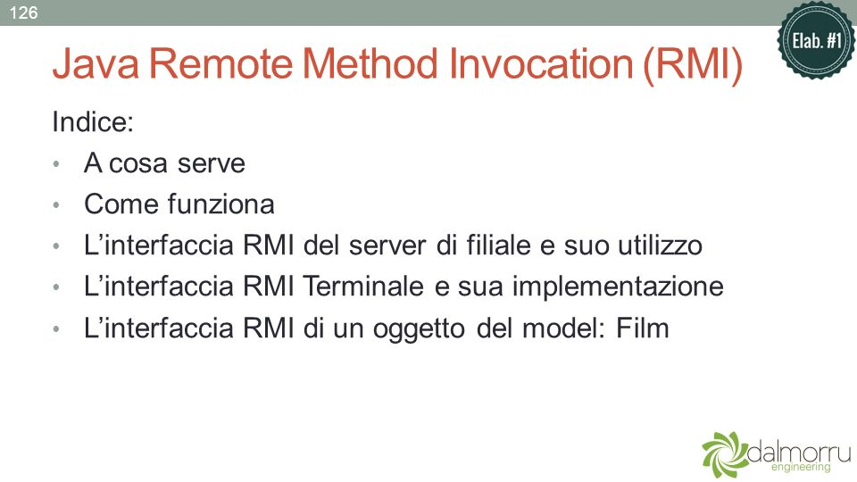 Java Remote Method Invocation (RMI)