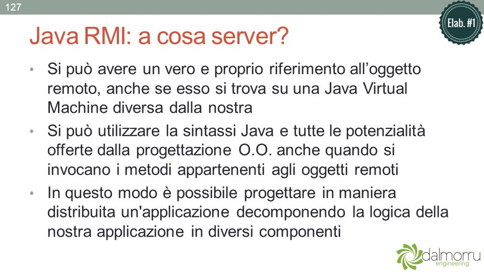 Java RMI: a cosa server