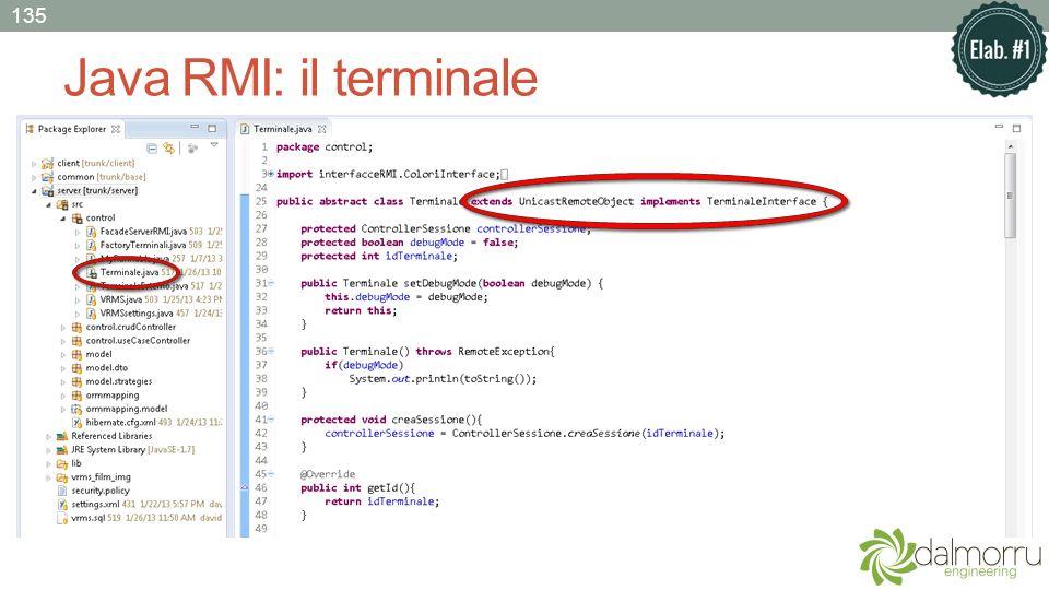 Java RMI: il terminale