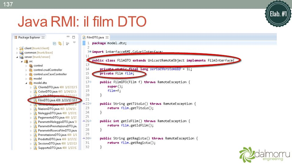 137 Java RMI: il film DTO