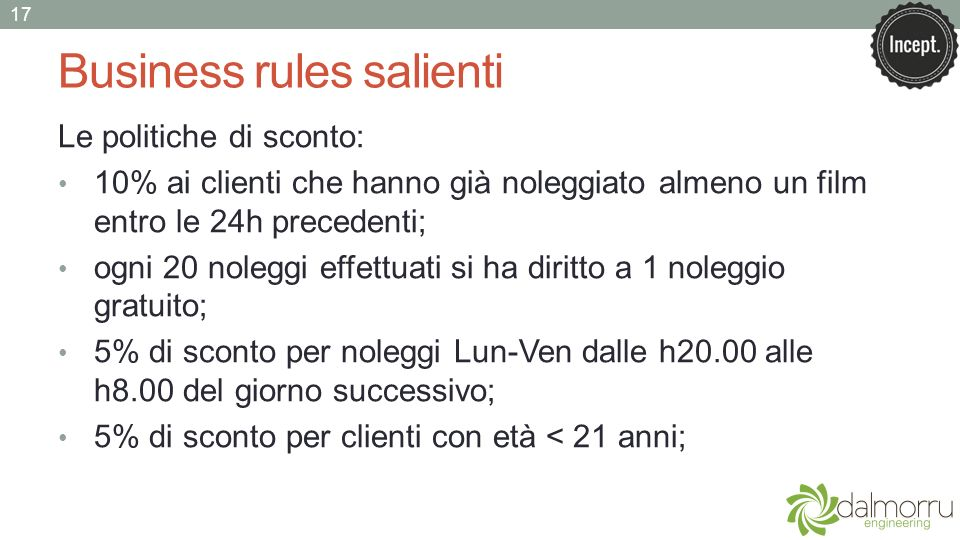 Business rules salienti