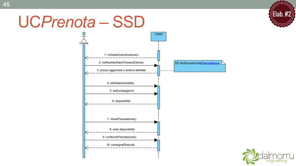 UCPrenota – SSD