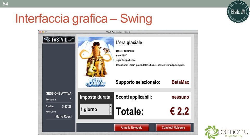 Interfaccia grafica – Swing