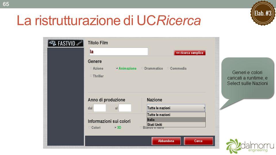 La ristrutturazione di UCRicerca