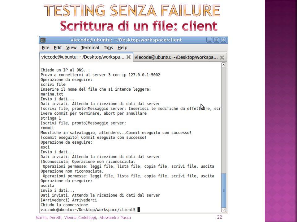 Scrittura di un file: client