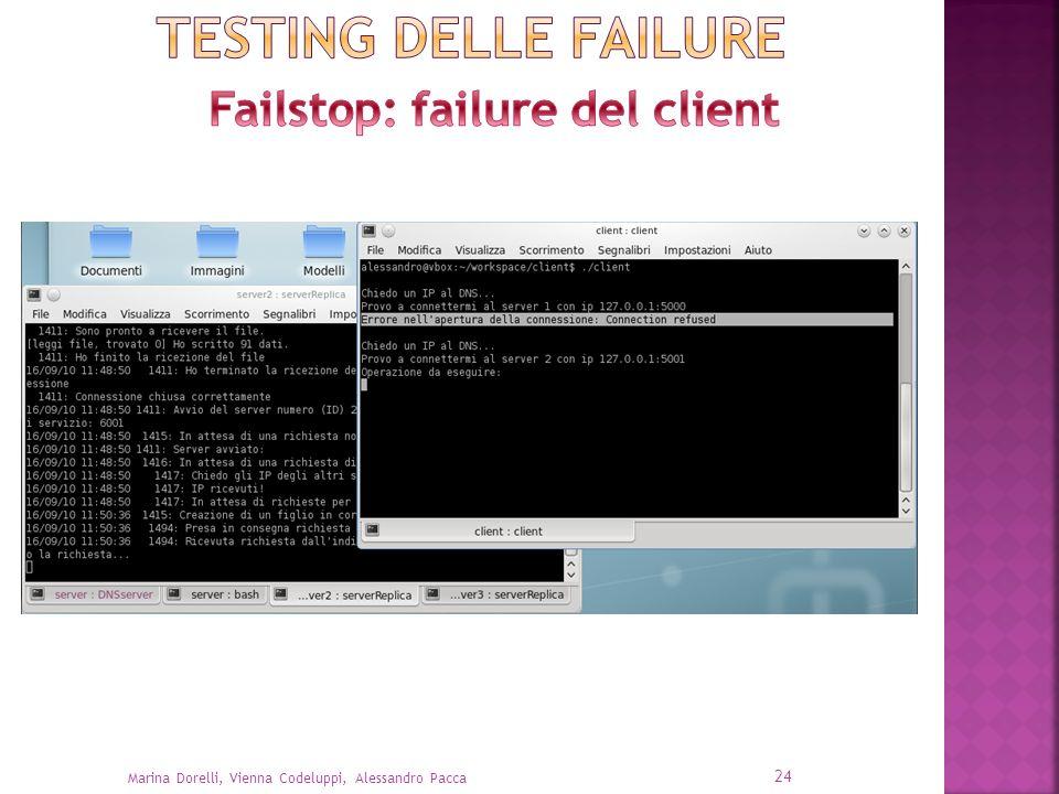 Failstop: failure del client