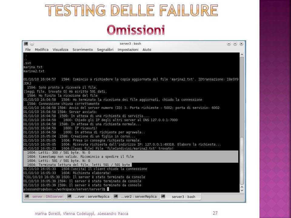 TESTING delle failure Omissioni