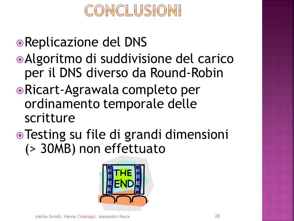 Conclusioni Replicazione del DNS