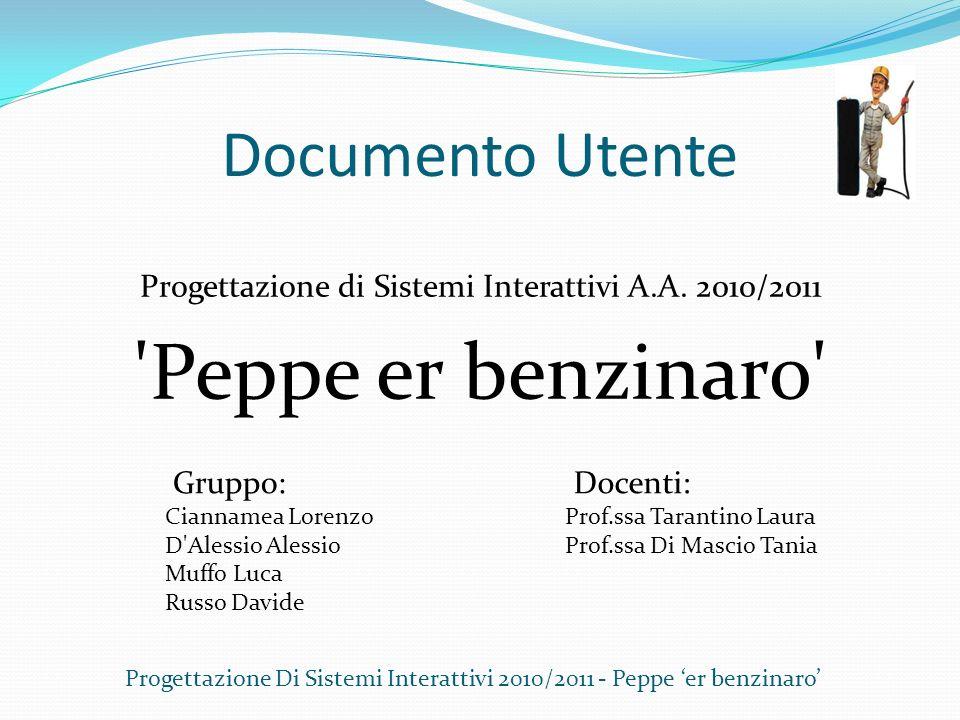 Peppe er benzinaro Documento Utente