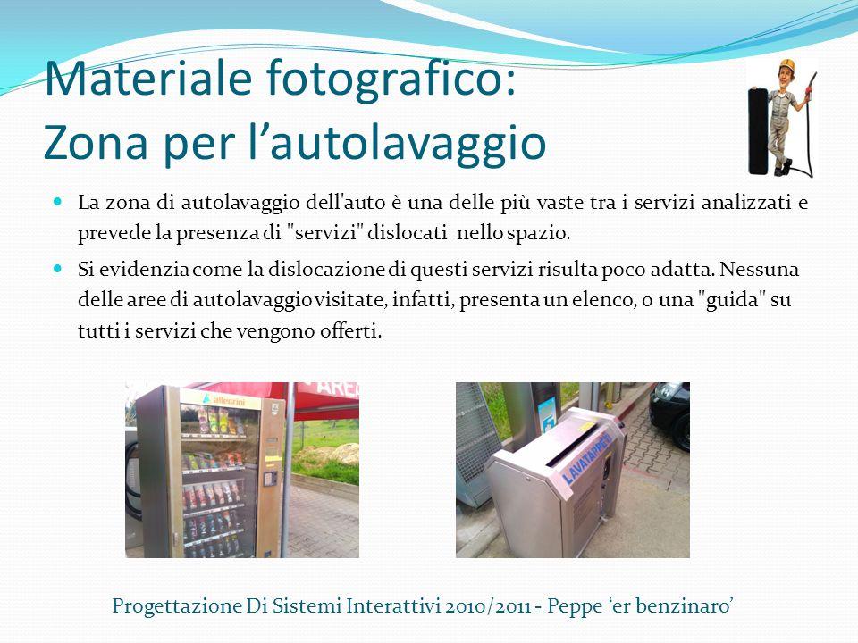 Materiale fotografico: Zona per l'autolavaggio