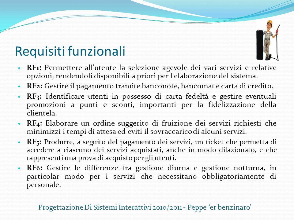 Progettazione Di Sistemi Interattivi 2010/2011 - Peppe 'er benzinaro'