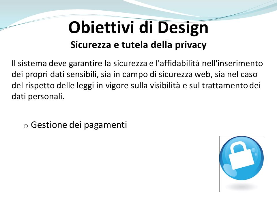 Sicurezza e tutela della privacy