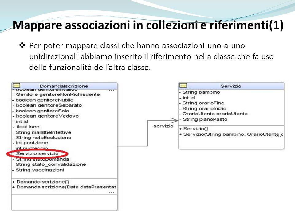 Mappare associazioni in collezioni e riferimenti(1)