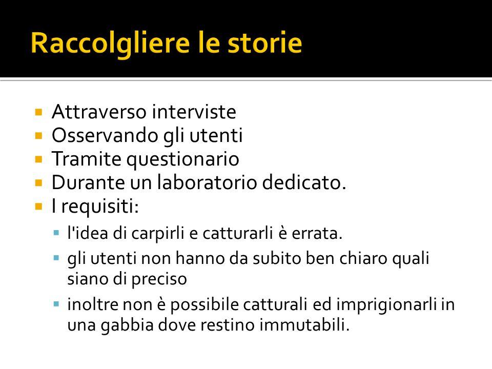 Raccolgliere le storie