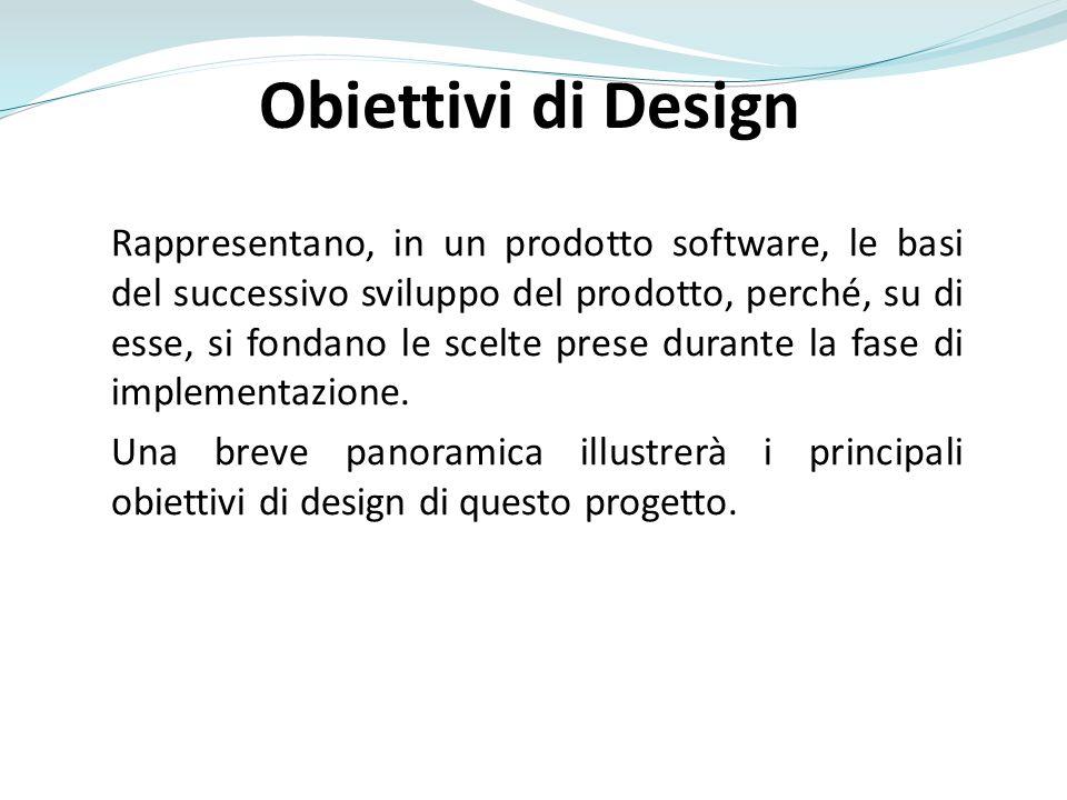 Obiettivi di Design