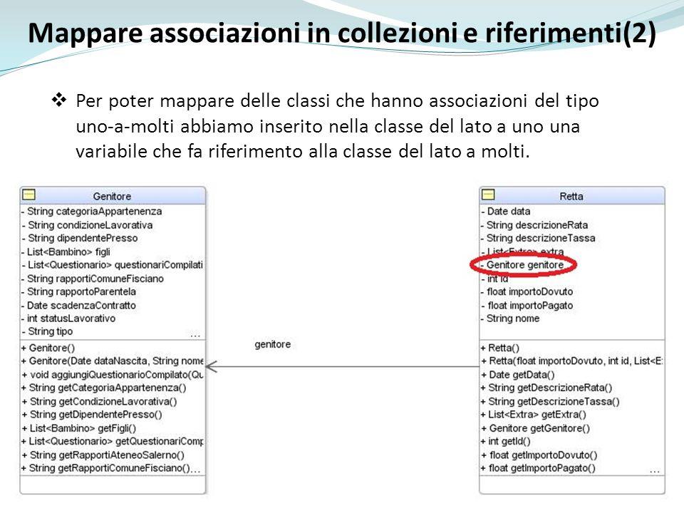 Mappare associazioni in collezioni e riferimenti(2)