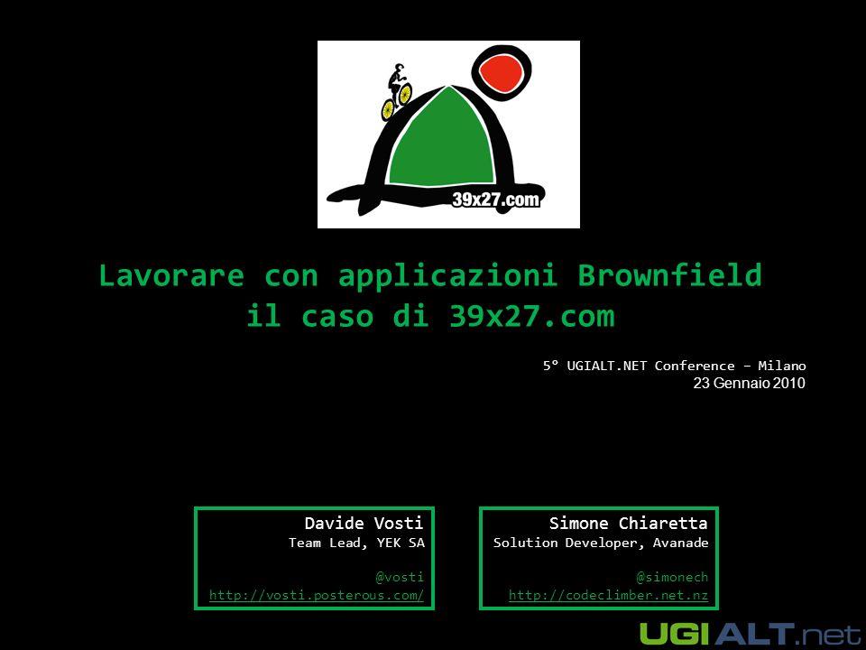 Chi siamo Simone Chiaretta Davide Vosti Lavora per Avanade Italy