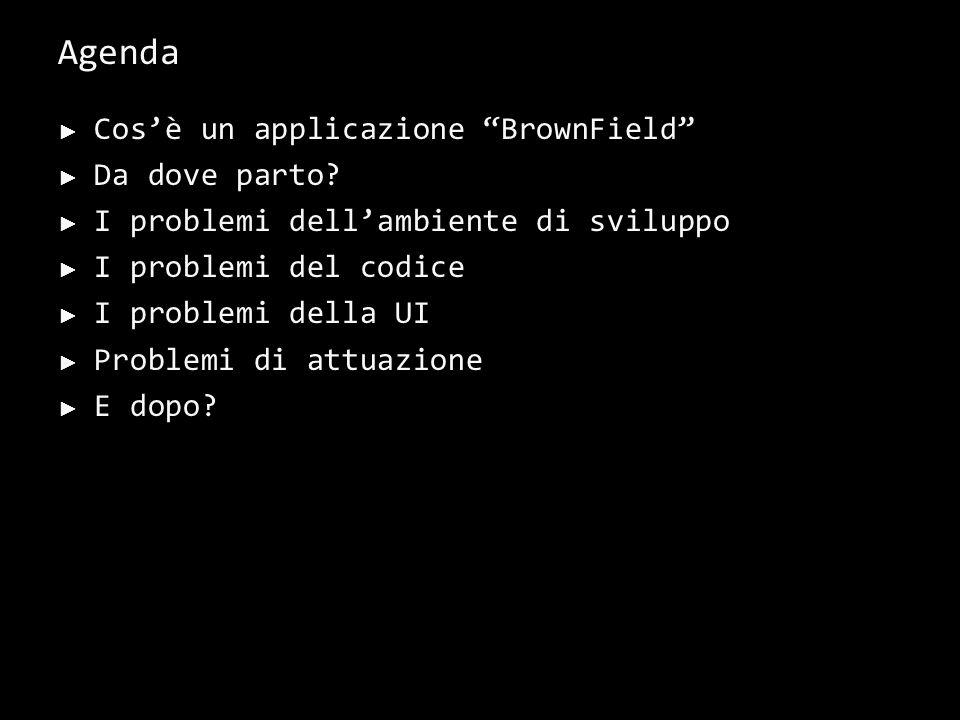 Cos'è un'applicazione BrownField